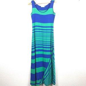 Calvin Klein Asymmetric Striped Maxi Dress Size 4